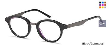 Black/Gunmetal Capri M3078 Eyeglasses