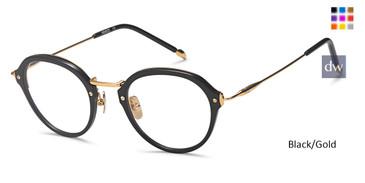 Black/Gold Capri M4057 Eyeglasses - Teenager