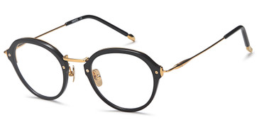 Black/Gold Capri Menizzi M4057 Eyeglasses - Teenager.