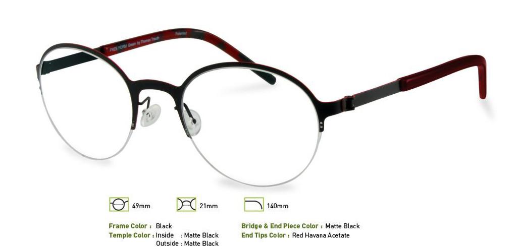 Black Free-Form FFA915 Eyeglasses.