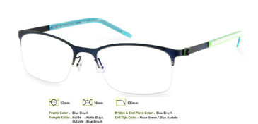 Blue Brush, Free-Form FFA916 Eyeglasses
