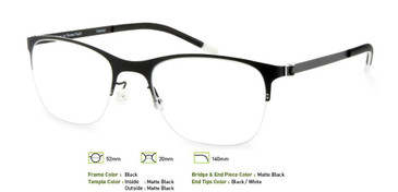 Black, Free-Form FFA918 Eyeglasses