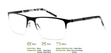 Black, Free-Form FFA919 Eyeglasses