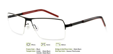 Black, Free-Form FFA920 Eyeglasses