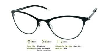 Matte Black, Free-Form FFA921 Eyeglasses