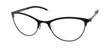 Matte Black Free-Form FFA921 Eyeglasses