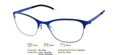 Matte Blue, Free-Form FFA922 Eyeglasses