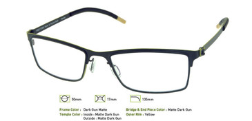 Matte Dark Gunmetal, Free-Form FFA923 Eyeglasses