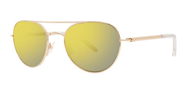 Gold Vera Wang Kerrigan Sunglasses.