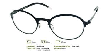 Matte Black, Free-Form FFA925 Eyeglasses