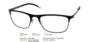 Matte Black, Free-Form FFA926 Eyeglasses