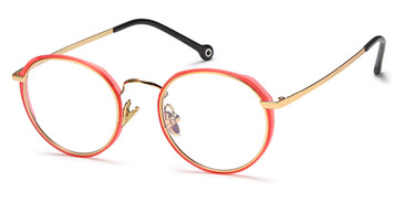 Gold/Pink Capri Menizzi M4046 Eyeglasses - Teenager.