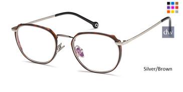 Silver/Brown Capri M4045 Eyeglasses