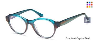 Gradient Crystal Teal Capri M3090 Eyeglasses - Teenager