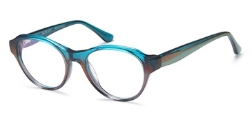 Gradient Crystal Teal Capri Menizzi M3090 Eyeglasses - Teenager.