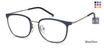 Blue/Gun Capri M4023 Eyeglasses