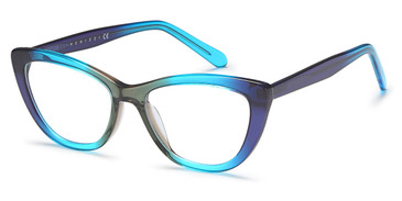 D. Blue/Sky Blue/Grey Capri Menizzi M4020 Eyeglasses - Teenager.