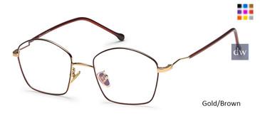 Gold/Brown Capri M4044 Eyeglasse