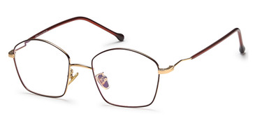 Gold/Brown Capri Menizzi M4044 Eyeglasses.