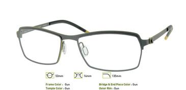 Gunmetal, Free-Form FFA942 Eyeglasses