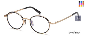 Gold/Black Capri M4035 Eyeglasses