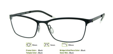 Black, Free-Form FFA943 Eyeglasses
