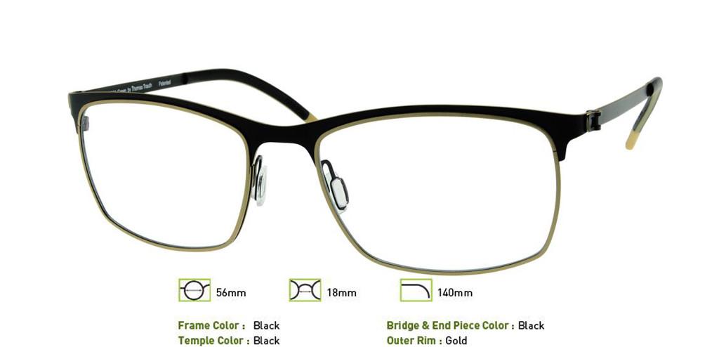 Black Free-Form FFA945 Eyeglasses