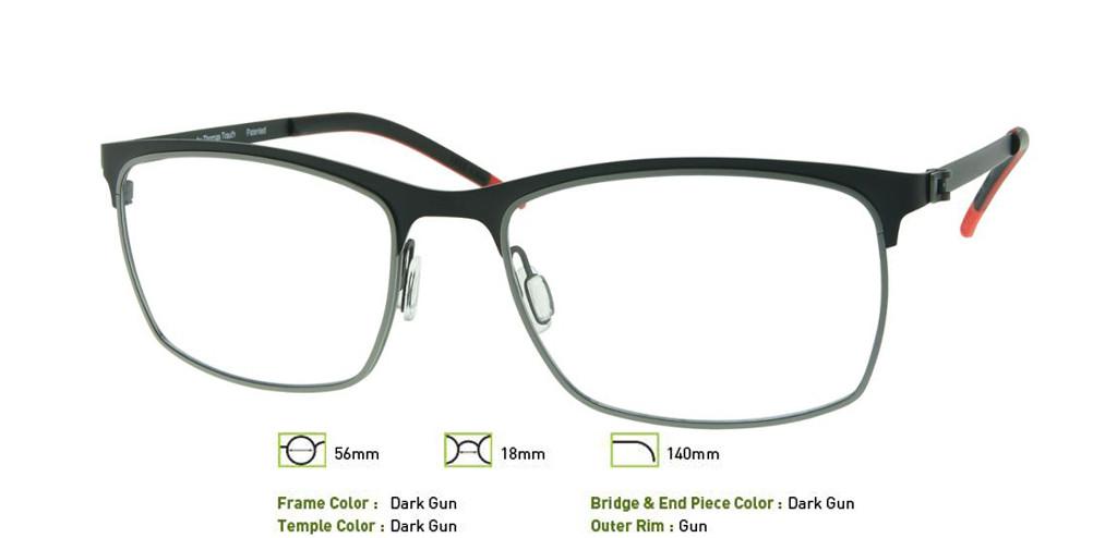 Dark Gunmetal Free-Form FFA945 Eyeglasses