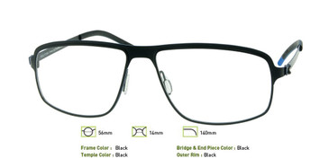 Black, Free-Form FFA946 Eyeglasses