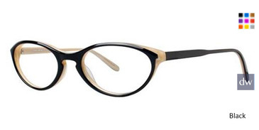 Black Vera Wang V356 Eyeglasses.