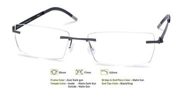 Gunmetal/ Dark Gunmetal, Free-Form FFA955 Eyeglasses