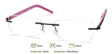 Brown Free-Form FFA961 Eyeglasses