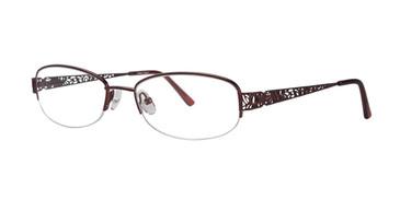 Burgundy Destiny Teagan Eyeglasses.