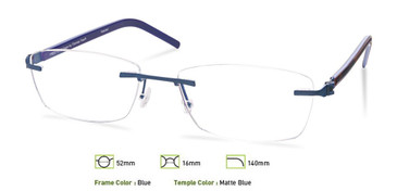 Blue, Free-Form FFA963 Eyeglasses