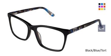 Black/Blue Tort Nicole Miller Antwerp YourFit Eyeglasses.