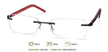 Dark Gunmetal, Free-Form FFA964 Eyeglasses