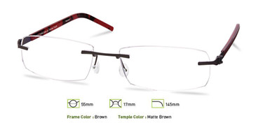 Brown Free-Form FFA965 Eyeglasses