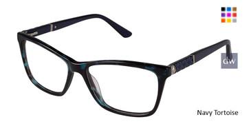 Navy Tortoise Nicole Miller Bateau YourFit Eyeglasses.
