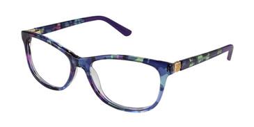 Navy Nicole Miller Brook YourFit Eyeglasses.