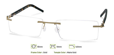 Gold, Free-Form FFA966 Eyeglasses