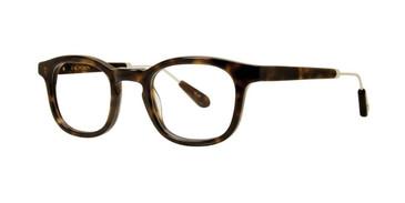 Tortoise Zac Posen Huxley Eyeglasses.