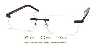Dark Gunmetal, Free-Form FFA968 Eyeglasses
