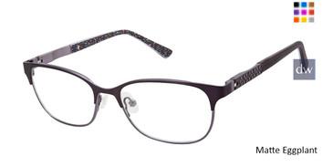 Matte Eggplant Nicole Miller Callie Tween Niki Nicole Miller Eyeglasses - Teenager.