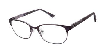 Matte Eggplant Nicole Miller Callie Tween Niki Eyeglasses - Teenager.