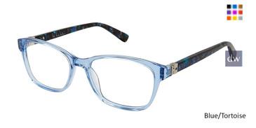 Blue Tortoise Nicole Miller Cleo Tween Niki Nicole Miller Eyeglasses.