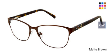 Matte Brown Nicole Miller Columbus YourFit Titanium Eyeglasses.