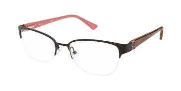 Matte Black Nicole Miller Cozine Eyeglasses.