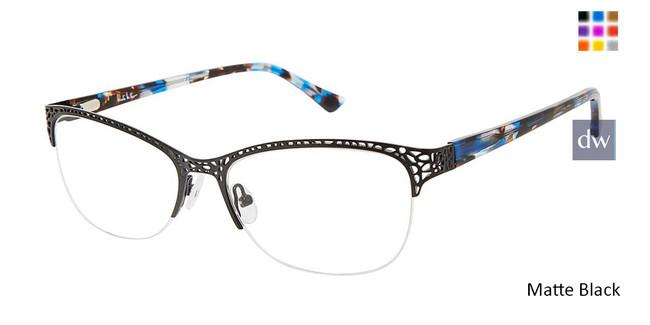Matte Black Nicole Miller Eckford YourFit Eyeglasses.