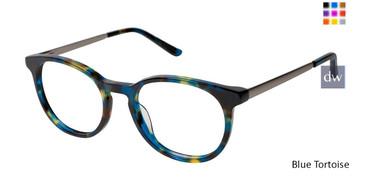Blue Tortoise Nicole Miller Eliza Eyeglasses.
