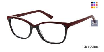 Black/Glitter Nicole Miller Hemlock Eyeglasses .